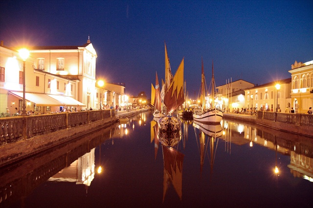 Cesenatico at night
