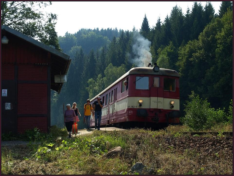 Ceske Drahy - Schlesische Semmeringbahn  - Nachmittags in Nove Losiny (Jeseniky)
