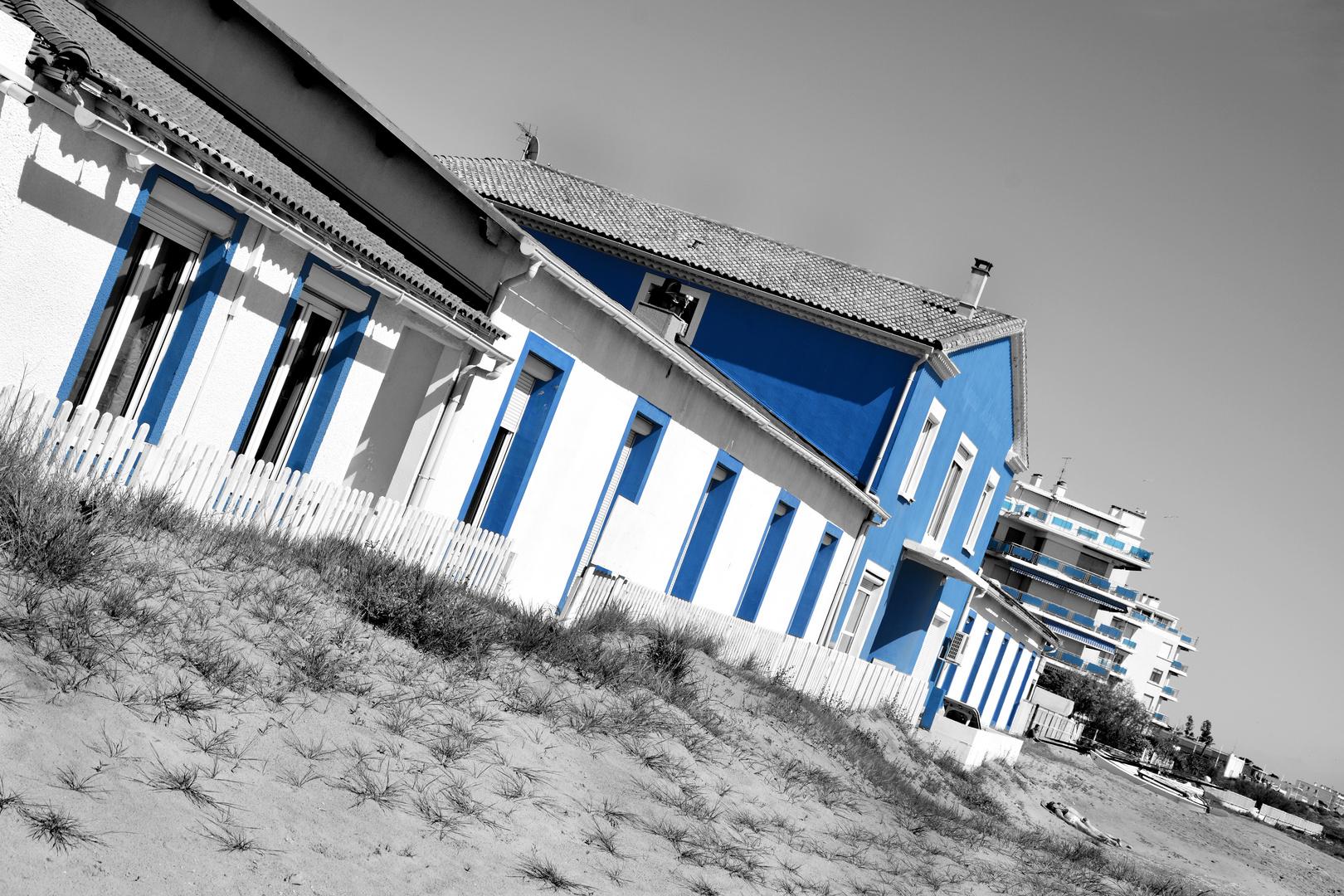 C'est une maison bleue ...