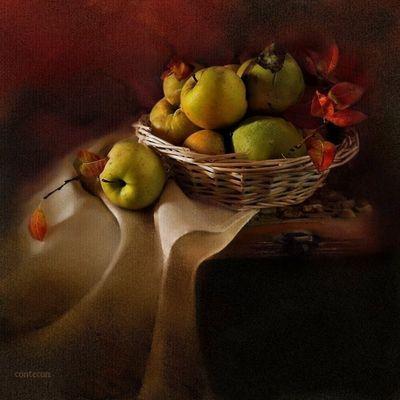 cesta manzanas