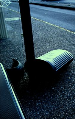 Cet arret de bus est le mien. Vive la jeunesse France destructive .
