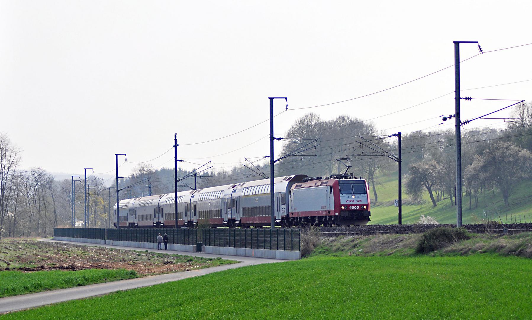 CFL 4005 mit IR nach Gouvy in Pettingen/Mersch