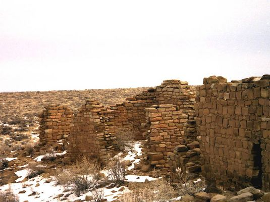Chaco Canyon in winter