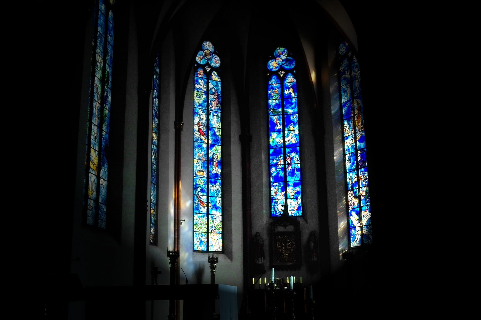 Chagall Fenster Mainz St.Stephan