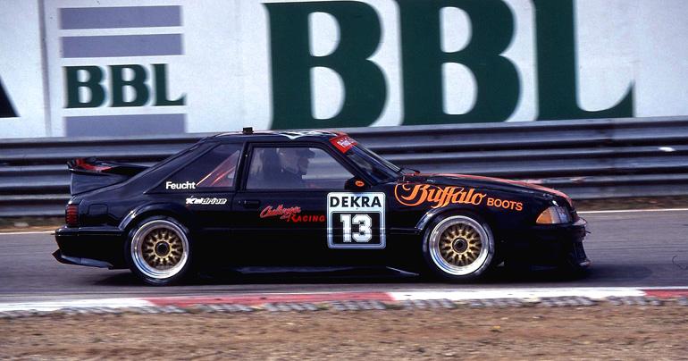 Challenger-Ford mit Jürgen Feucht am Steuer.DTM 1991 Zolder/B
