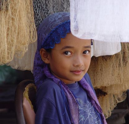 Cham muslemisches Mädchen aus Kambodscha - Tak Mau