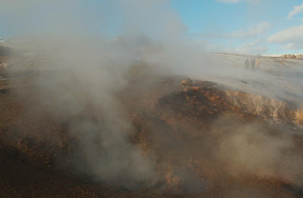 champ de geysers