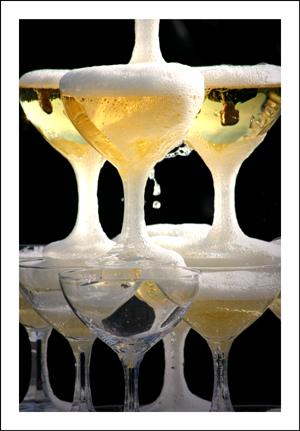 Champagner-Brunnen