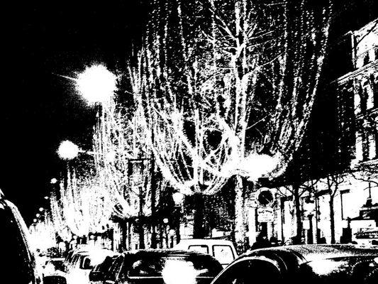 Champs elysees noir et blanc