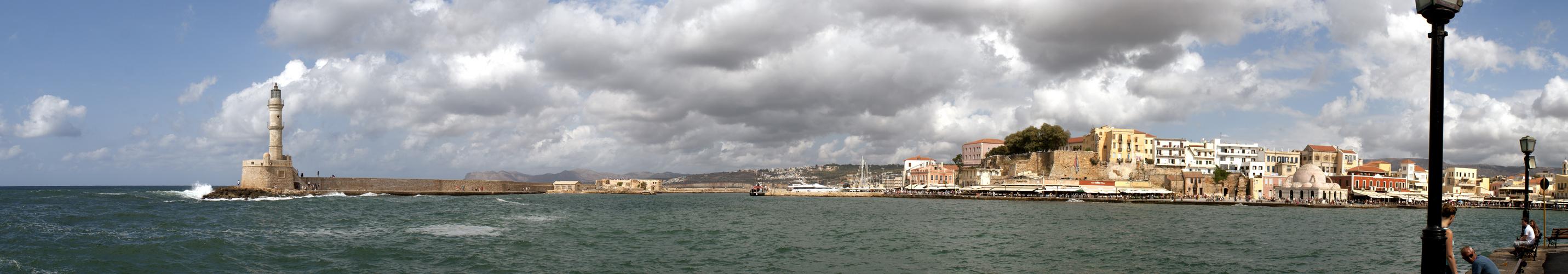 Chania Harbour Panorama