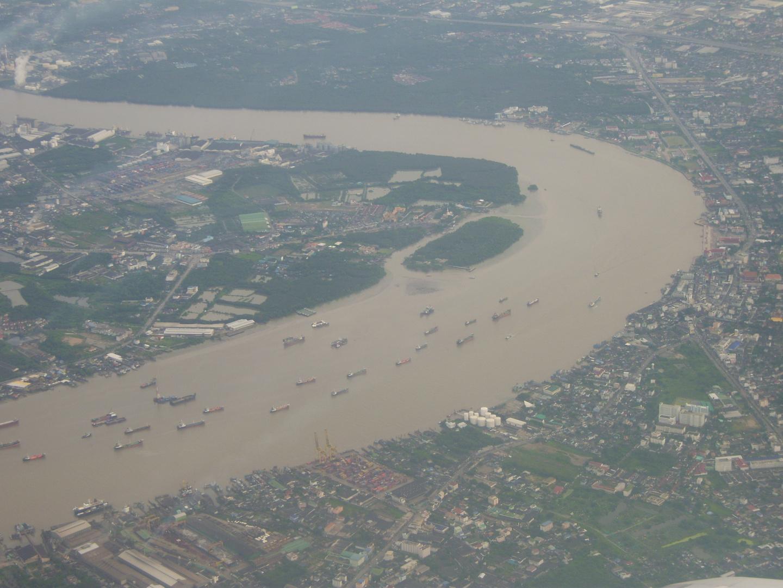 Chao Phraya im Dunst