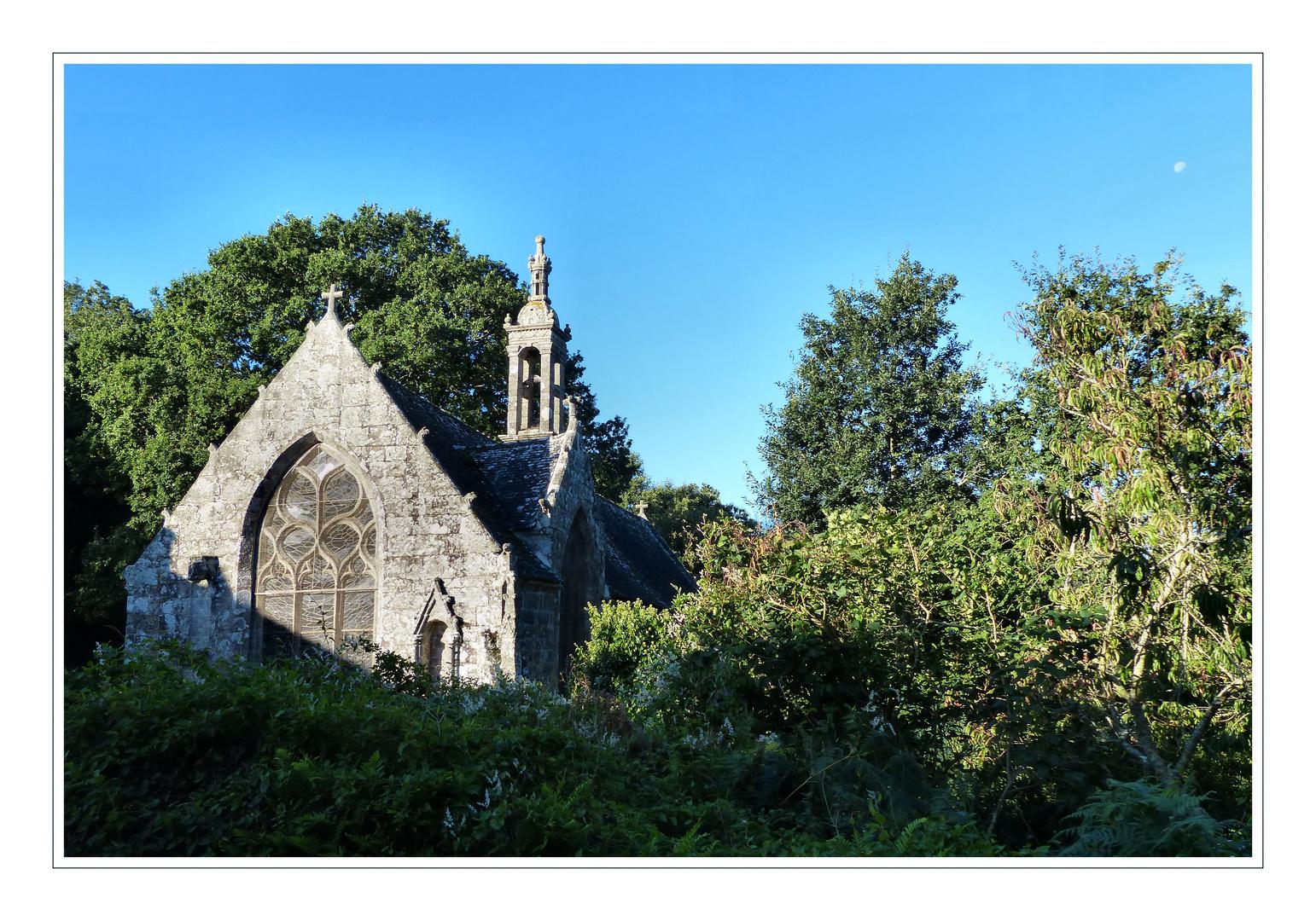 Chapel Notre Dame de Bonne Nouvelle in the morning sun