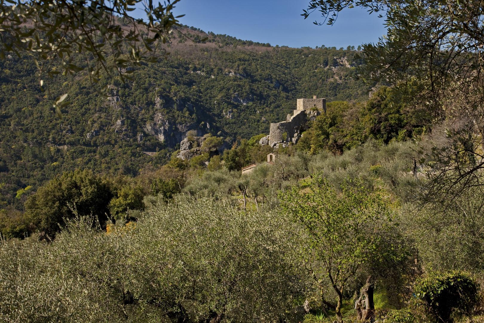chapel st féréol au pied de son castellaras a st cezaire ( alpes maritimes)