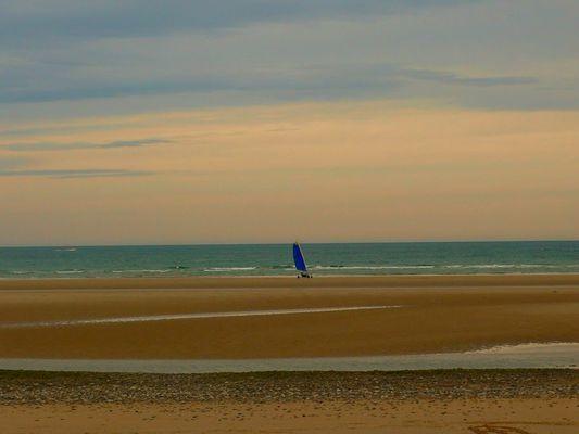 Char à voile en Normandie