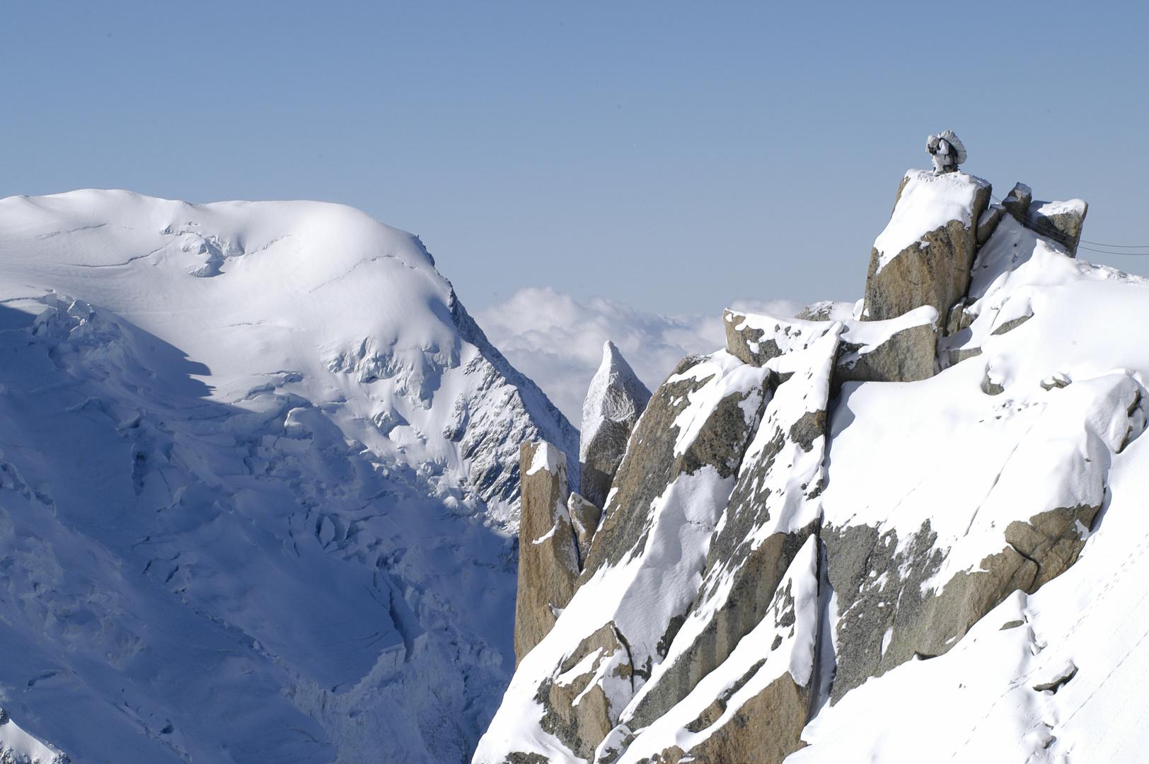Chasseur alpin dans son milieu
