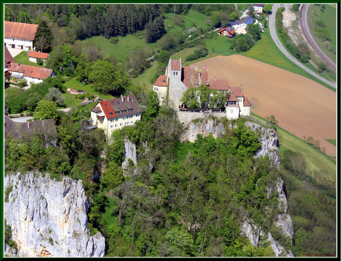 Chateau Werenwag, au Jura Souabe