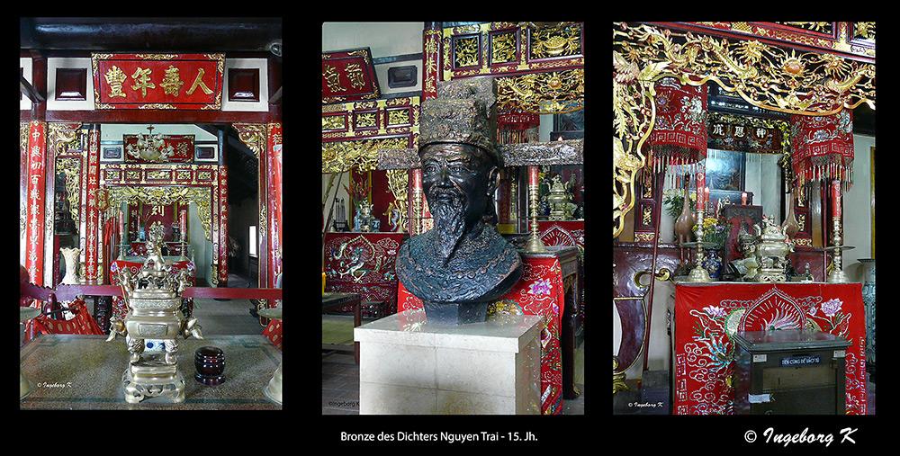 Chau Doc - Altäre in diesem chinesisch geprägten Tempel