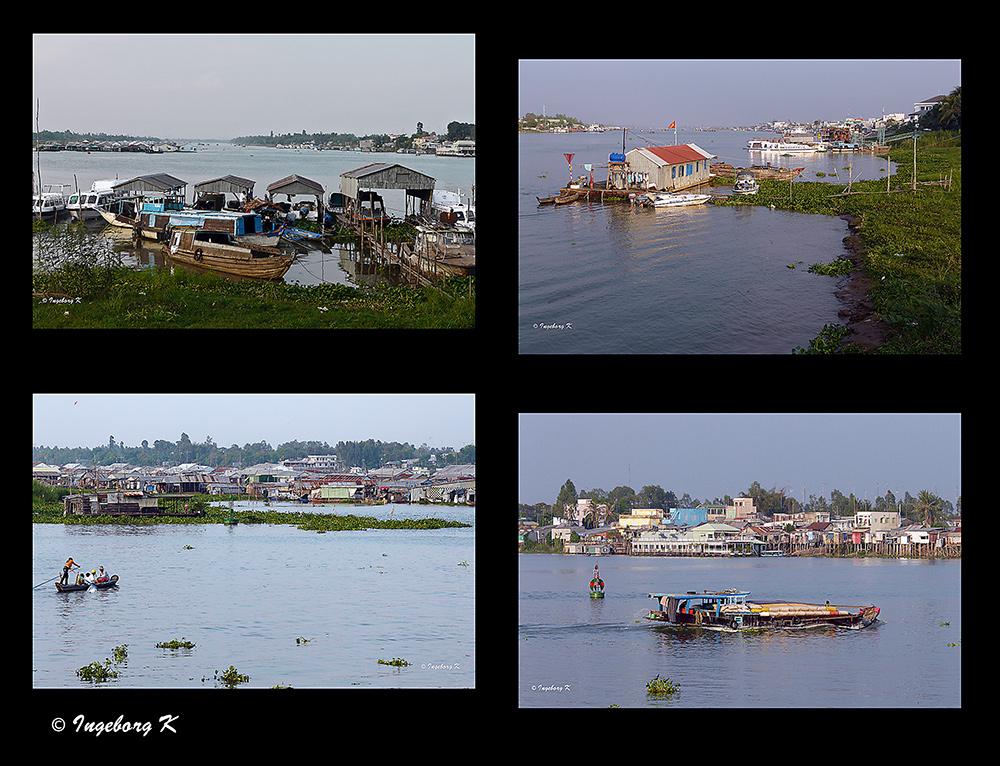 Chau Doc - Die andere Seite der Stadt - Leben auf de Fluss