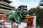Chau Doc - Löwe an Tempeleingang