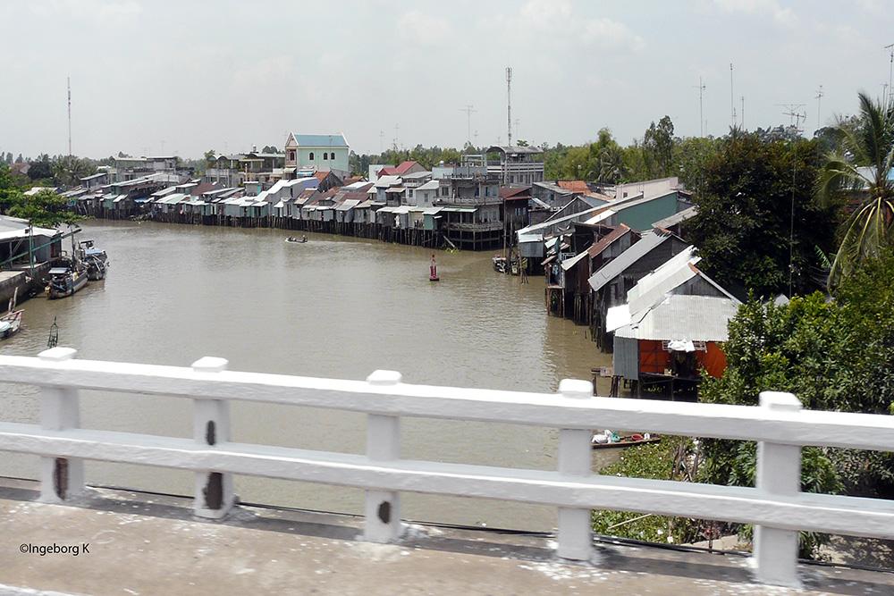 Chau Doc - Schwimmende Häuser