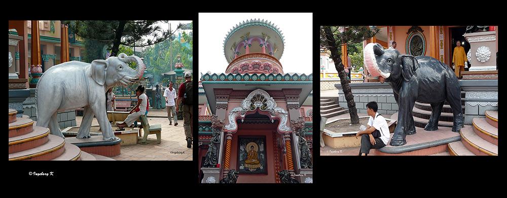 Chau Doc - Tempeleingang -