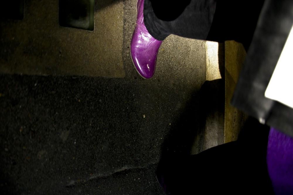 chaussure violette