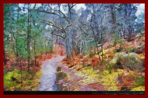 Chemin forestier , des tros Pignons à Fontainebleau