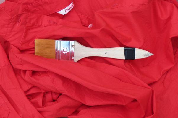 chemise rouge 40