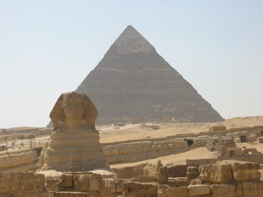 Cheops-Pyramide/Sphinx