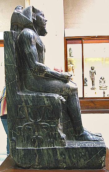 Chephren im ägyptischen Museum Kairo