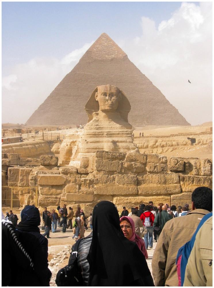 Chephren Pyramide und Sphinx