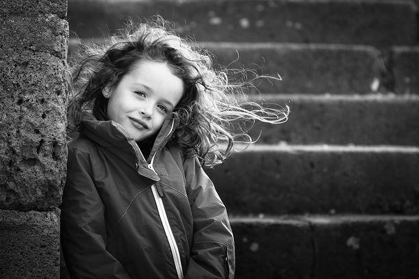 Cheveux aux vent