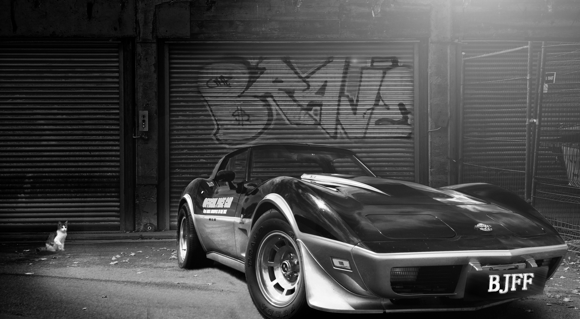 Chevrolet Corvette C3 B&W (Composing Übung)