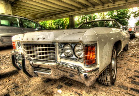 Chevy mit scharfem Bumper