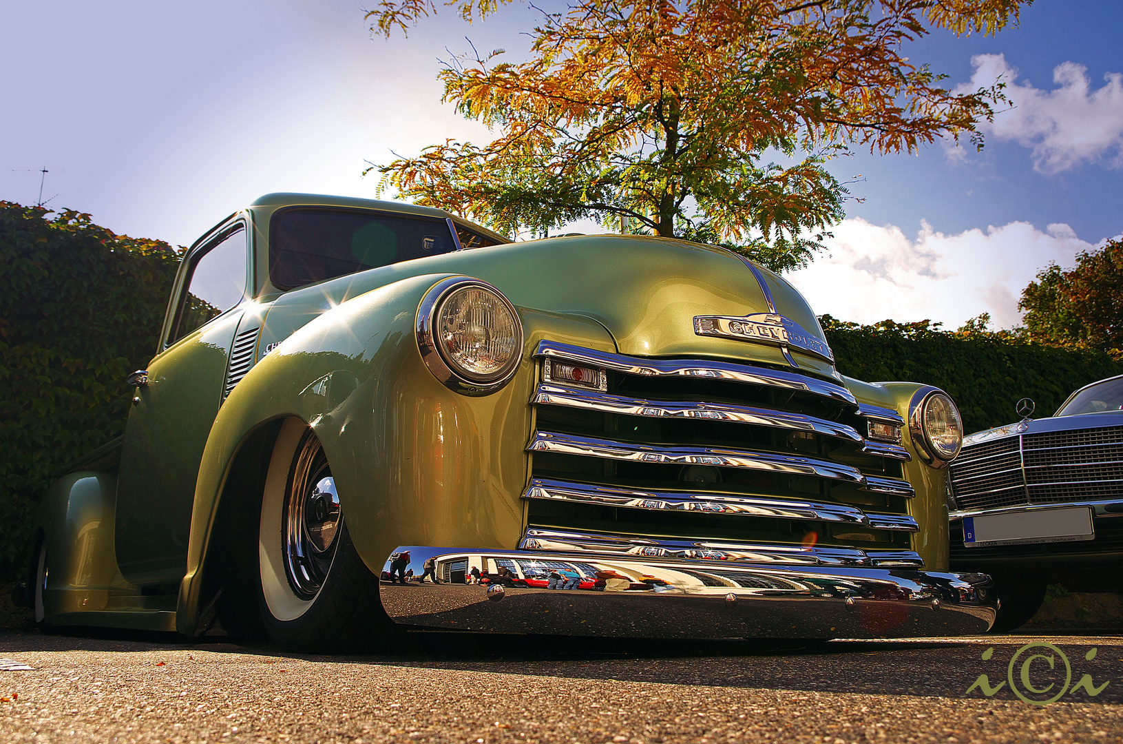 Chevy Pickup..............down low..........