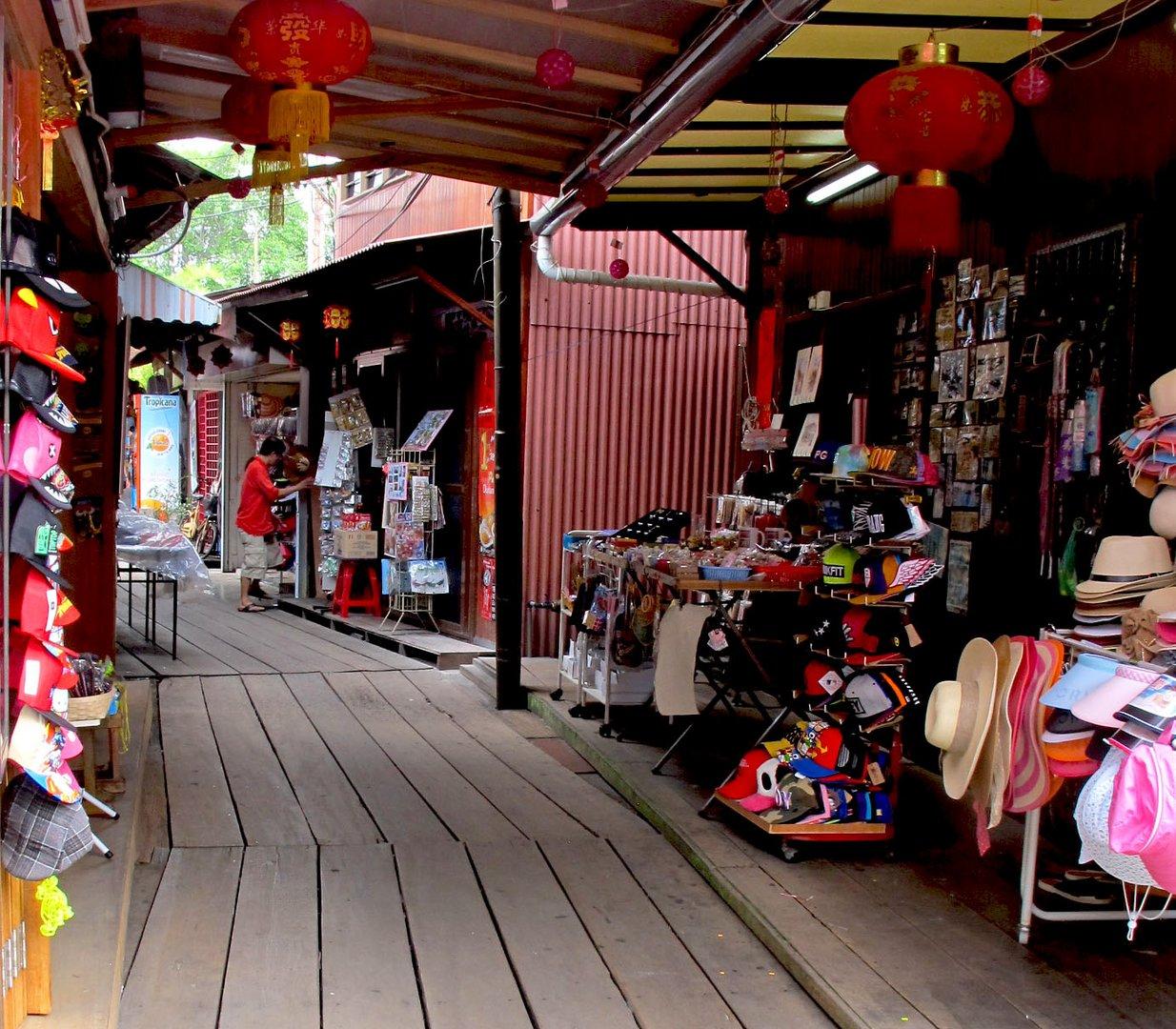 Chew Jetty , (Pfahlbauten ) Weltkulturerbe in Penang