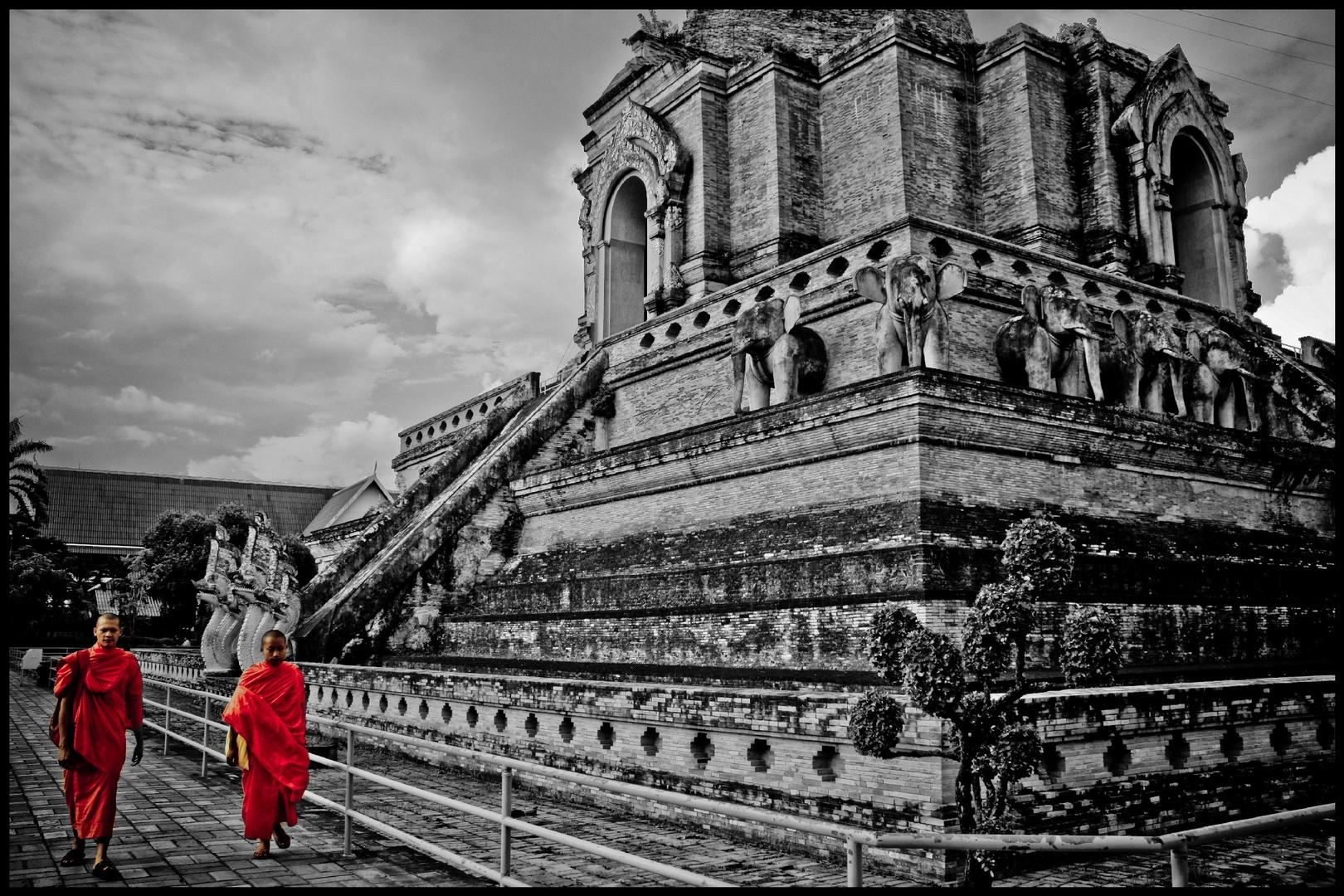 Chiang Mai Buddhist B&W