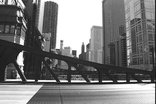 Chicago in Graustufen