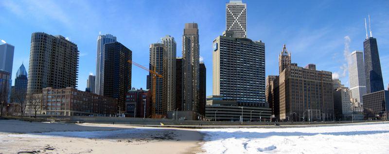 Chicago Skyline (Winter)