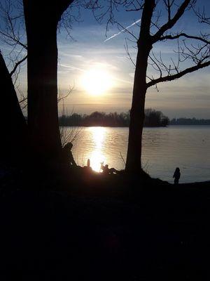 Chiemsee im Sonnenuntergang