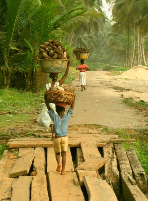 Children from Axim, Ghana, 2003