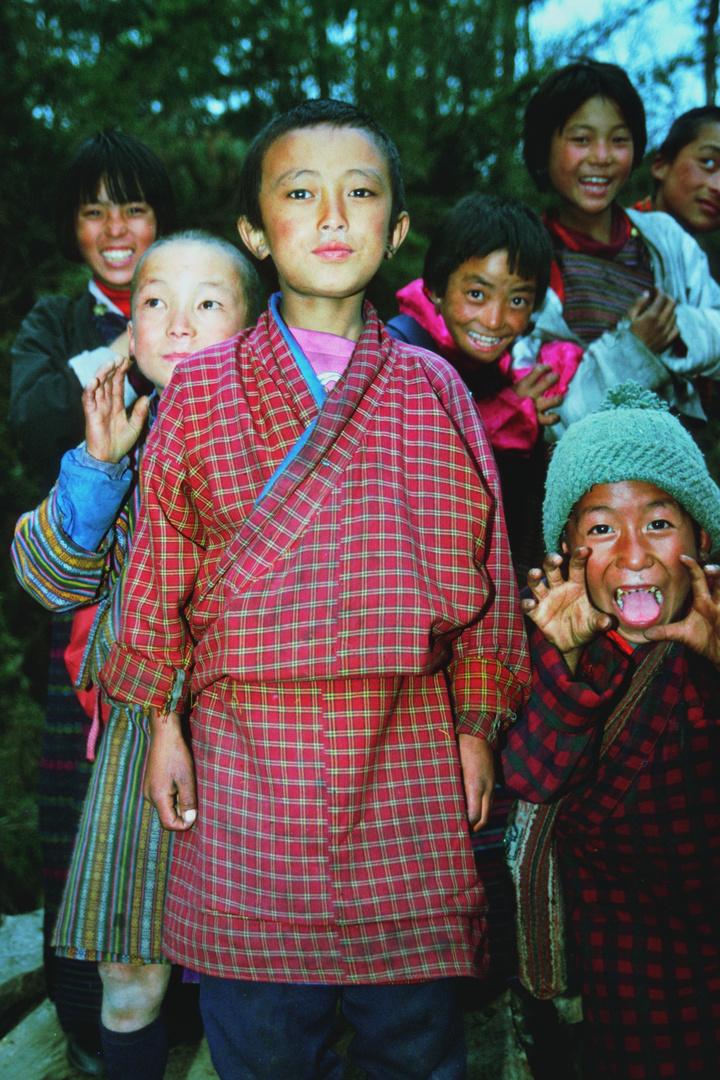 Children in Nga Lhakhang Bumthang