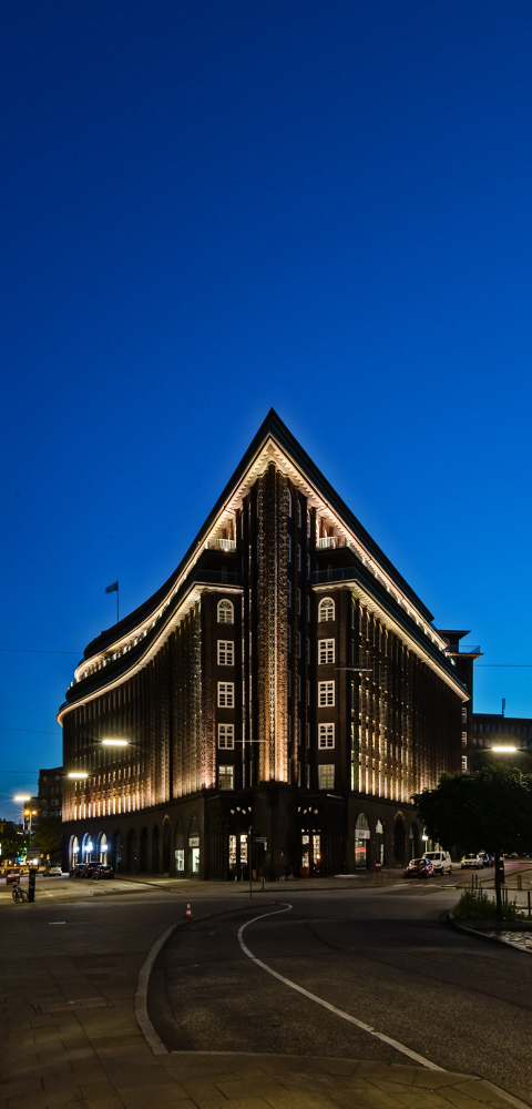 Chilehaus by night