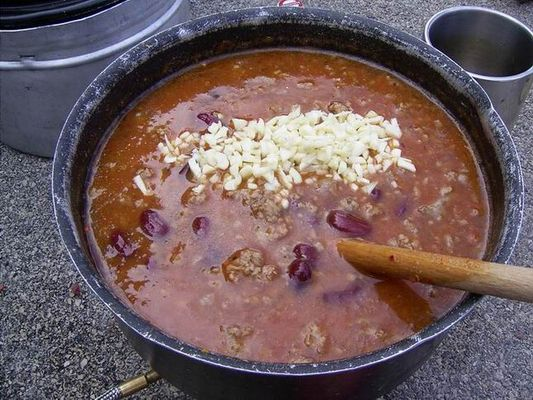 Chili con carne in Split am Hafen...
