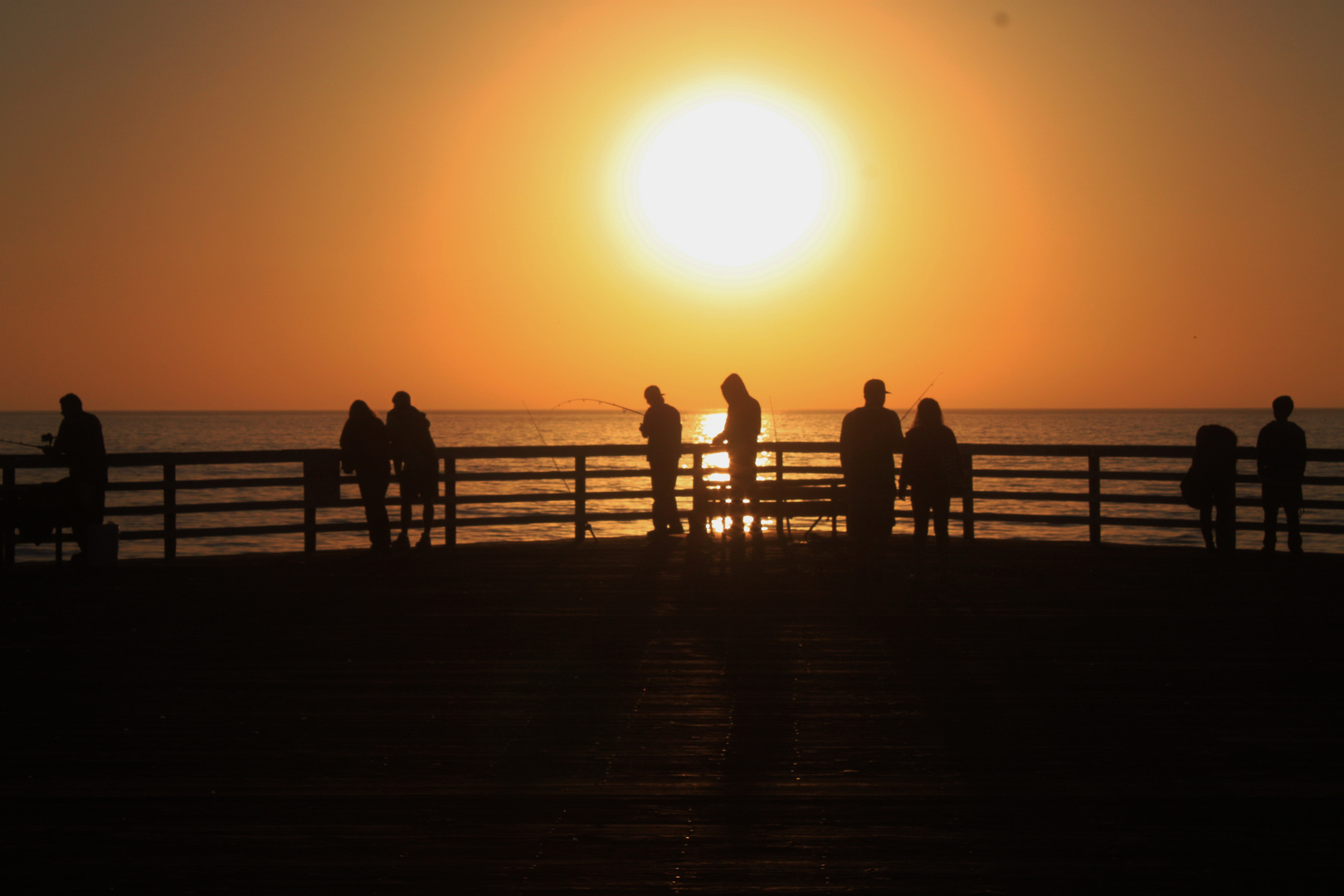 chill out on the pier