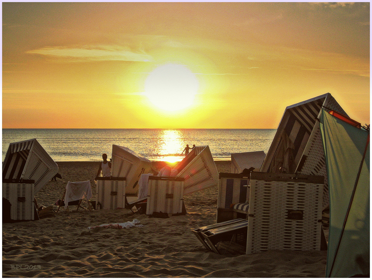 Chillen am Strand vor der berühmten Buhne16 in Kampen/Sylt
