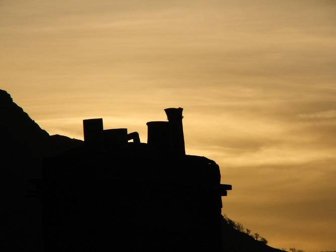 Chimney at dawn