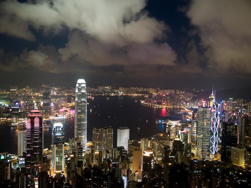 China 1: Victoria Peak bei Nacht