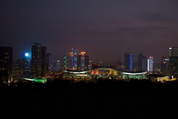China . . Shenzhen by night