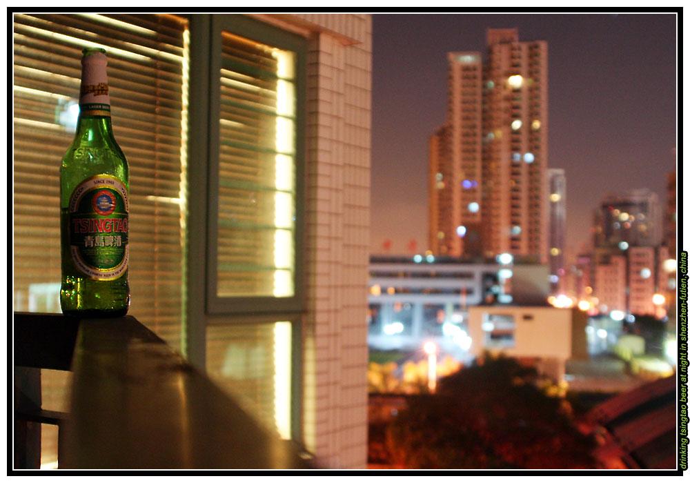 China - Shenzhen - Futian, Drinking Tsingtao